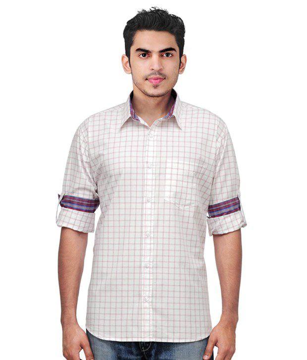 Native Age Smart Off White Checkered Shirt