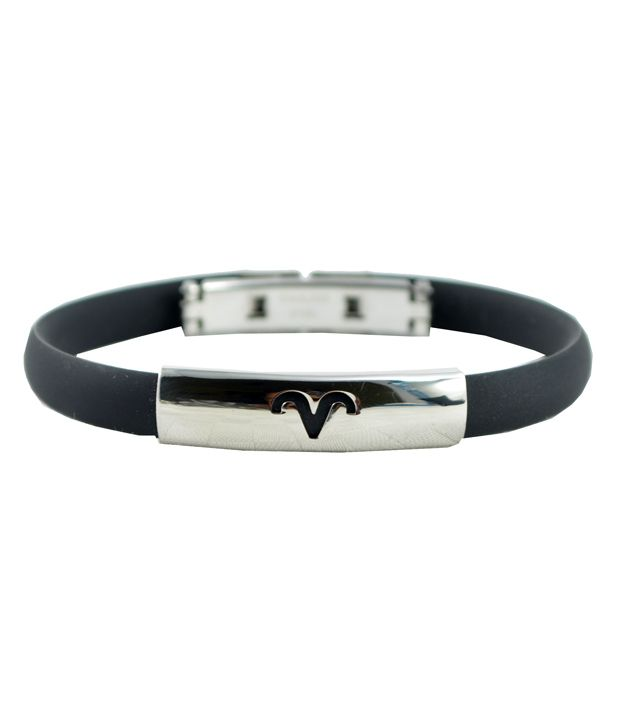 Alpha Man Aries Charm Bracelet In Classic Black