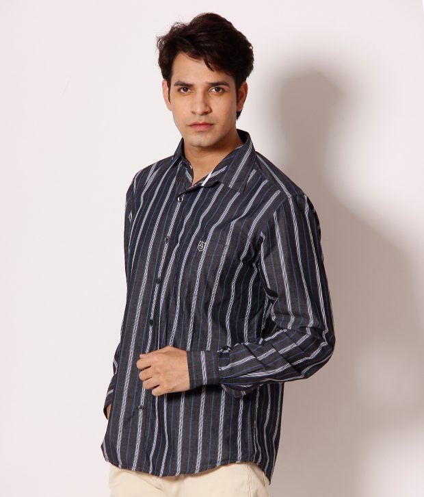 Speak Black Striped Shirt