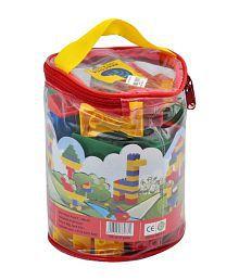 Peacock Kinder Blocks Stack Them PVC Bag -50 pcs