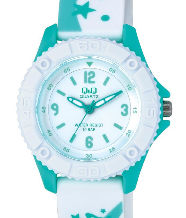 Q&Q Yearning White Green Watch
