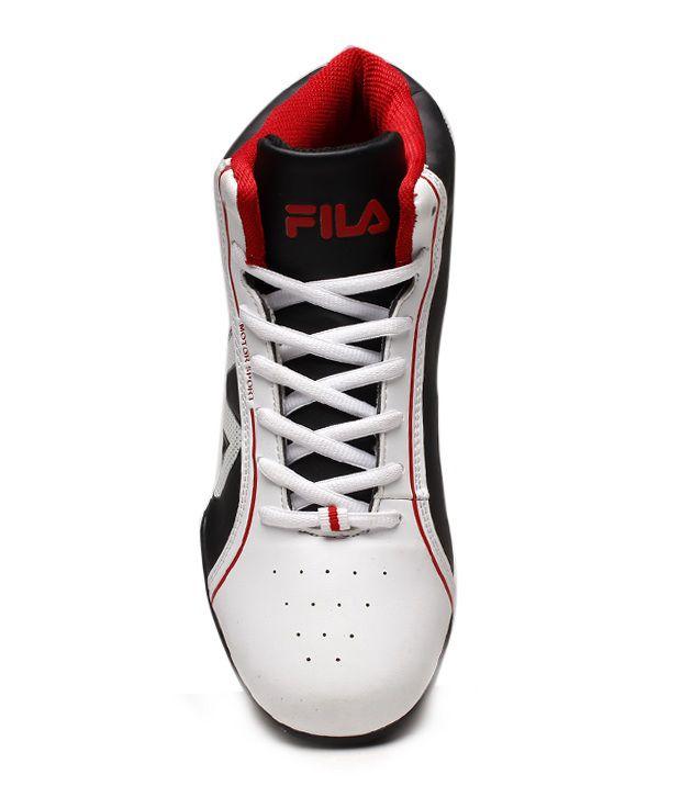 6b141d6772d3 ... Fila Swift White   Black Basketball Shoes Art AFISONZO677WHT BLK ...