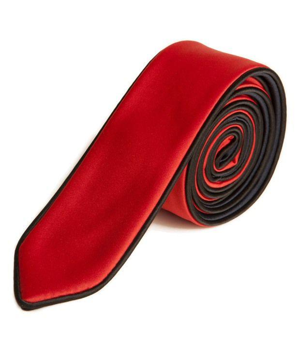 The Vatican Black & Red Reversible Tie
