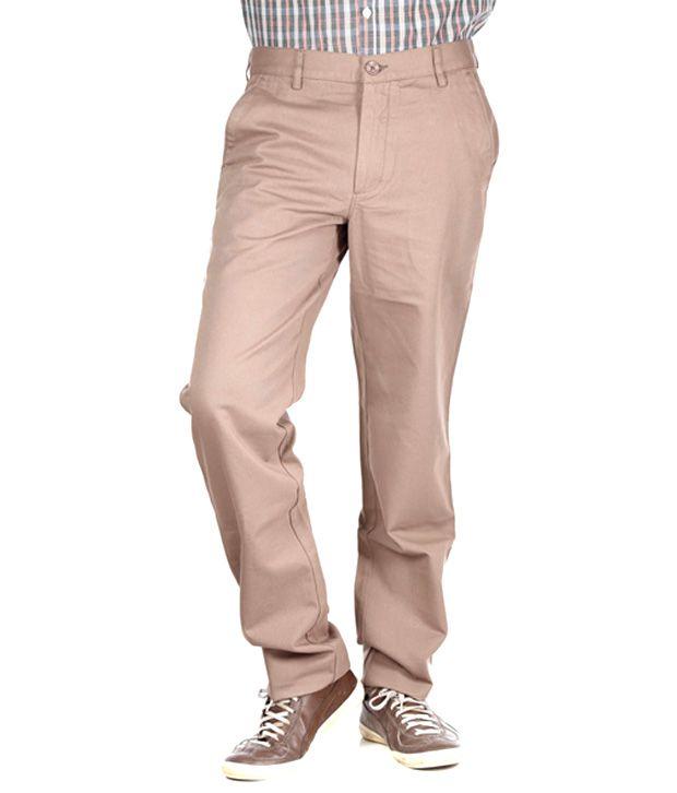 Polo Sport Beige Cotton Formal Trouser