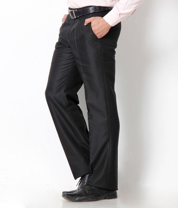 Platinum Studio Exclusive Black Pleated Trouser