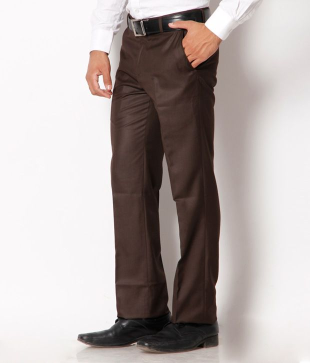 Jogur Coffee Brown Formal   Trouser