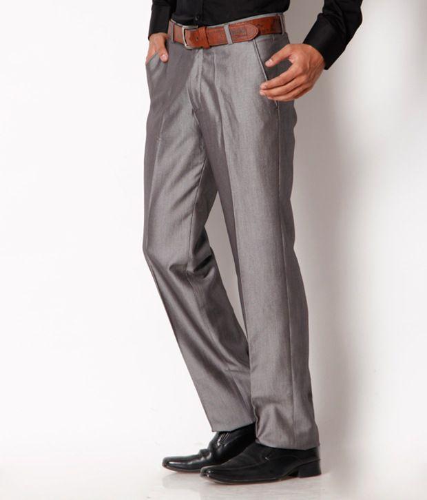 Jogur Light Grey Formal  Trouser