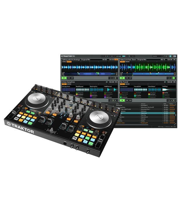 Native Instruments Kontrol S4 Mk2 - Includes 4-deck USB DJ Control Surface,  Audio Interface and