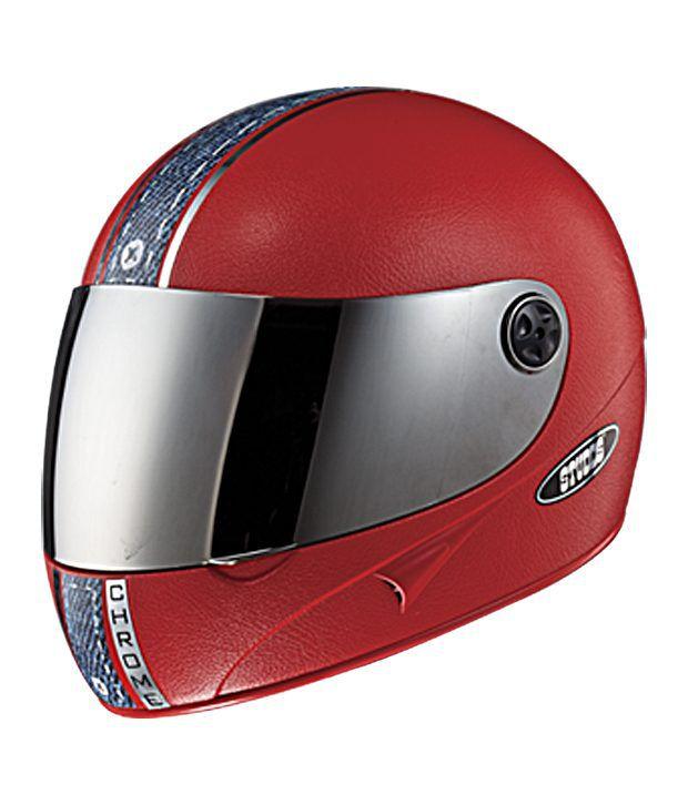 b17c4830 Studds - Full Face Helmet - Chrome with Mirror Visor (Red Denim) [Large -  58 cms]: Buy Studds - Full Face Helmet - Chrome with Mirror Visor (Red  Denim) ...