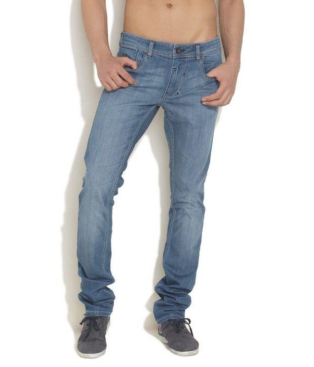 Numero Uno Medium Blue Tapered Leg Jeans