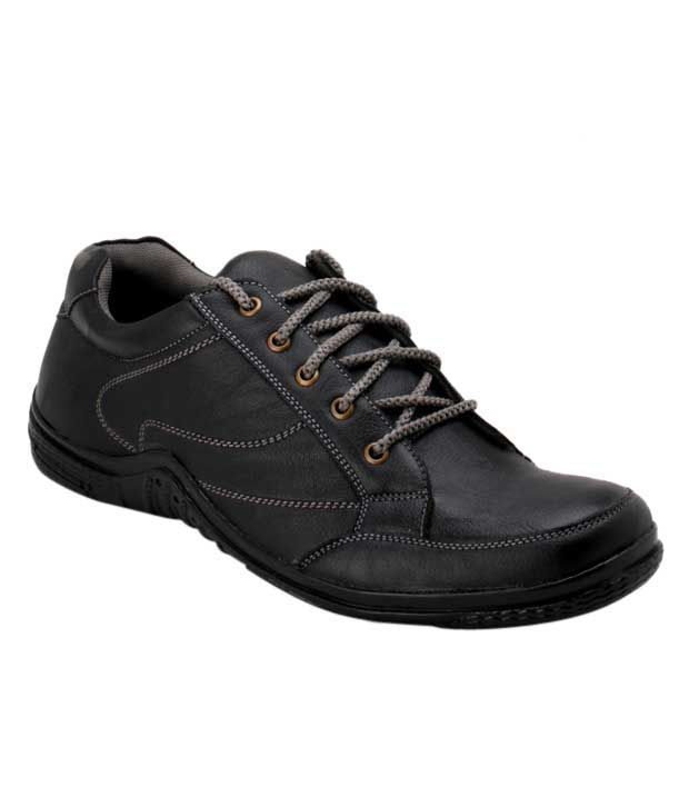 Roony Black Smart Casuals Shoes