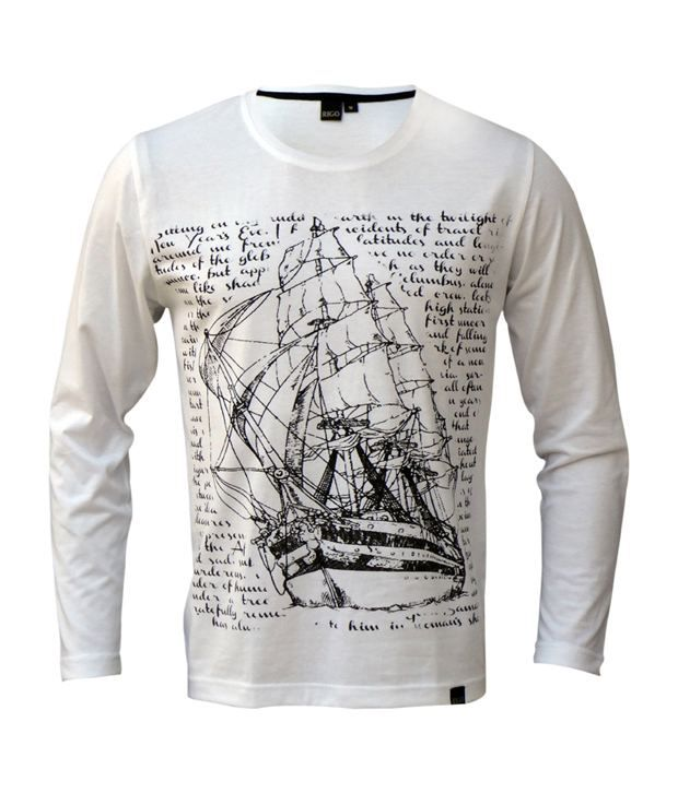 Rigo White Voyage Ship T-Shirt