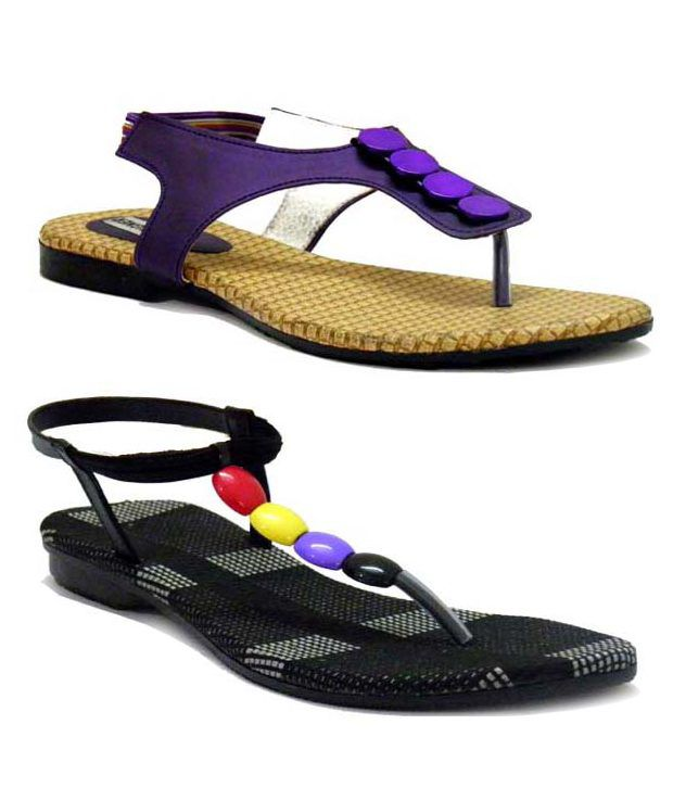 Indirang Chic Flat Sandals Combo
