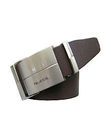 Winsome Deal Brown and black Reversible Leather Belt with auto lock buckle
