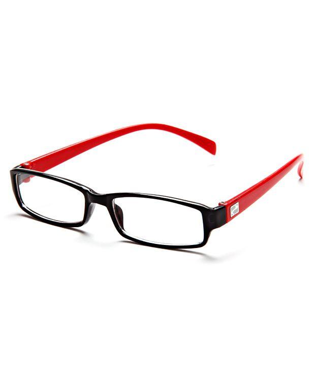 Glasses Frame List : Mall 4 All MOD-7-48 Black Rectangle Eyeglasses - Buy Mall ...