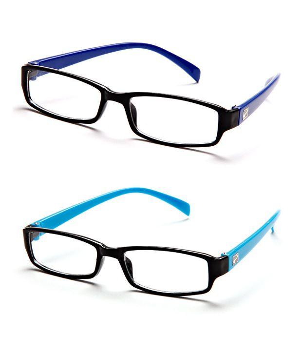 Aqua Blue Glasses Frames : Mall4all rsb1-rsb4 Black-Aqua Blue Frame Rectangle Unisex ...