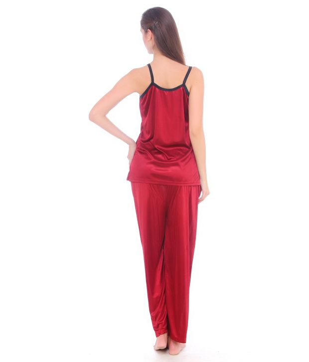 4a33c13a83 Buy Fasense Satin Nightsuit Sets - Black Online at Best Prices in ...