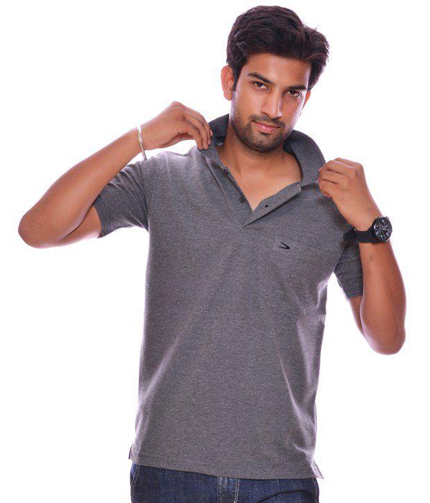 Duke cool dark grey polo t shirt buy duke cool dark grey for Cool polo t shirts
