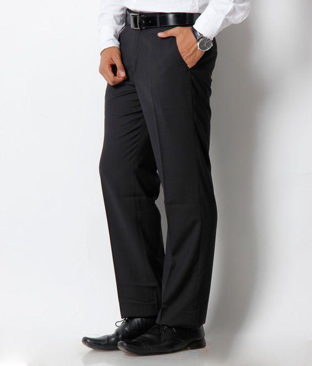 Platinum Studio Black Trouser