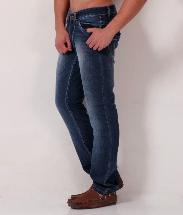 Gansta Smart Dark Blue Faded Jeans