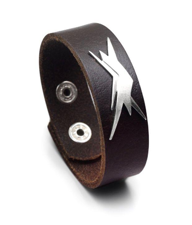 Farah Khan Silver Krrish Exclusive Leather Bracelet