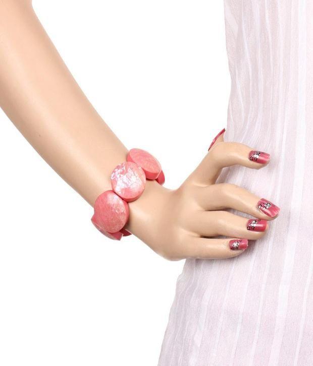 Khoobsurati Geometrics Acrylic Charm Bracelet