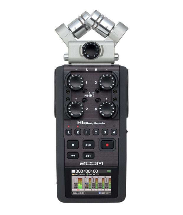 Zoom H6 Handheld Audio Recorder  Buy Zoom H6 Handheld