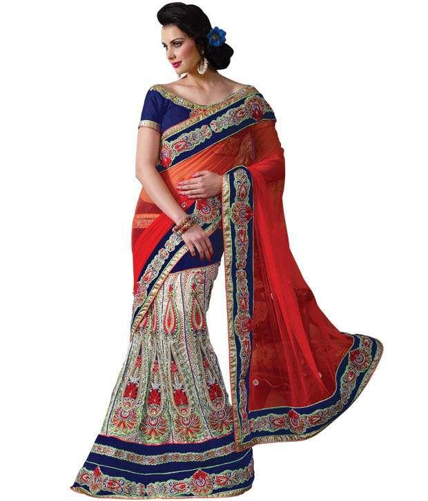 prafful beige designer lehenga saree   buy prafful beige designer lehenga saree online at best
