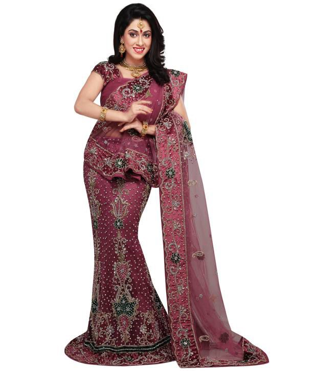 6c27e5c38b Onion Pink Net Lehenga Choli with Dupatta - Buy Onion Pink Net Lehenga Choli  with Dupatta Online at Best Prices in India on Snapdeal