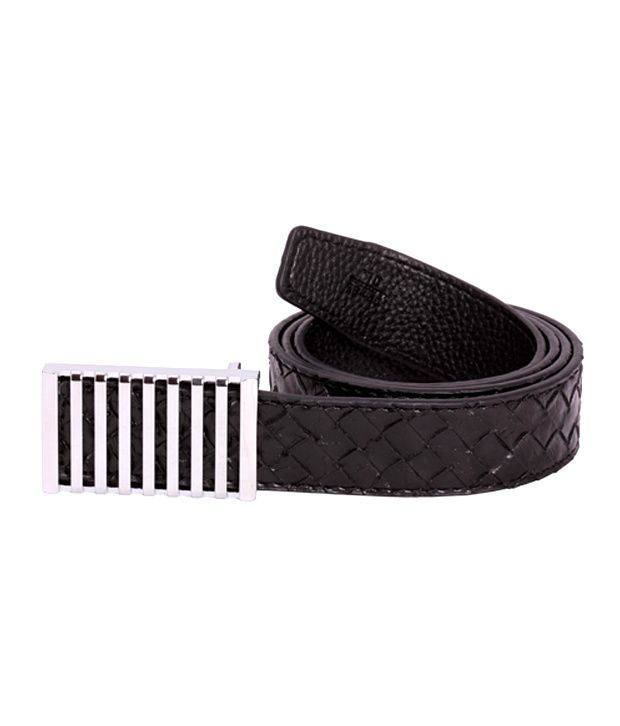 Zovon Criss-Cross Textured Black Belt