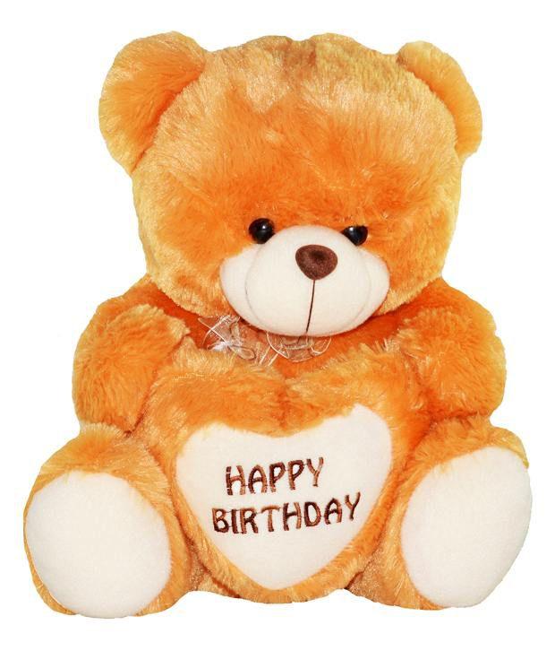 Toytoy Happy Birthday Yellow Teddy Bear 15 Inches