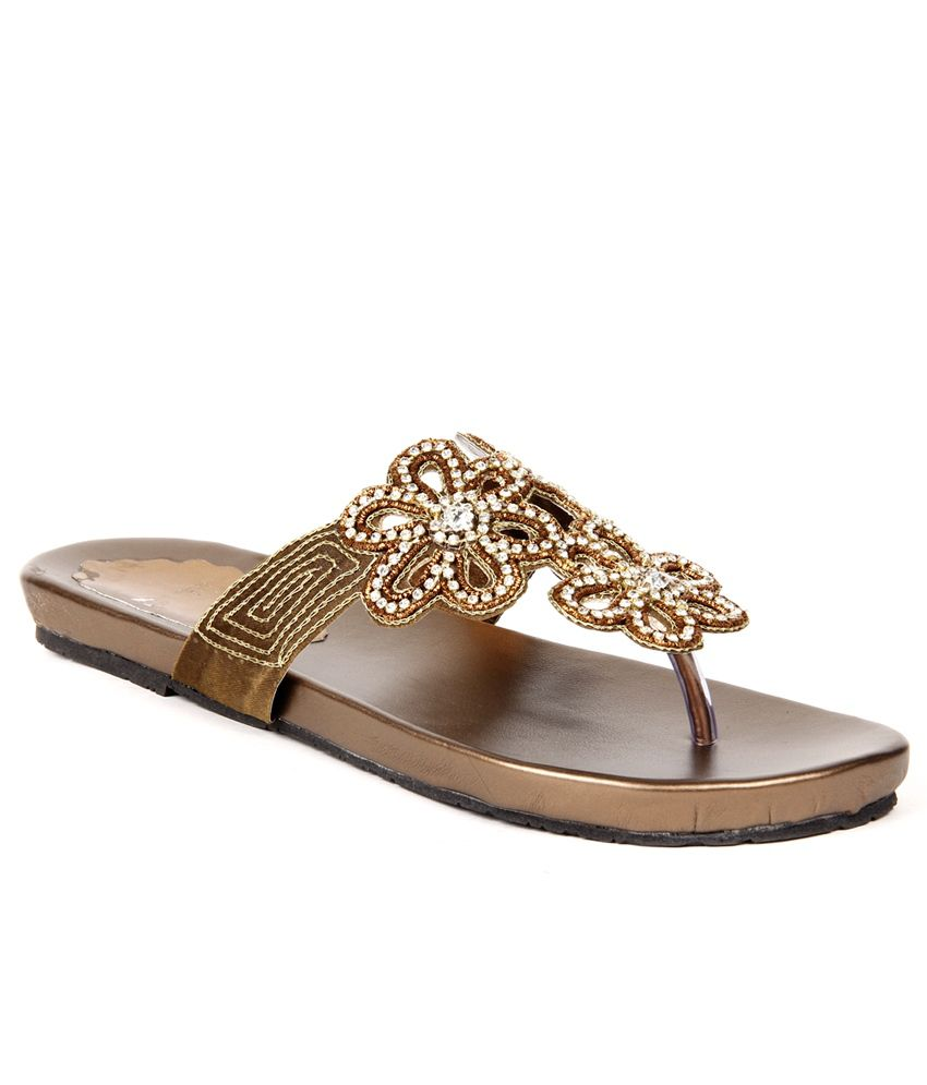 Do Bhai ShoeBazaar Royal Brown Flats