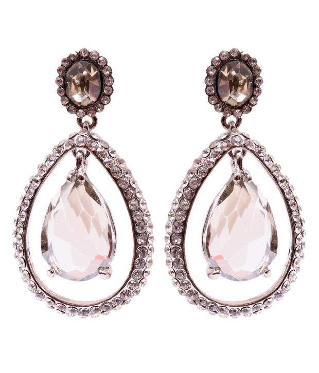 Trendy Baubles Clear Topaz & Diamante Earrings