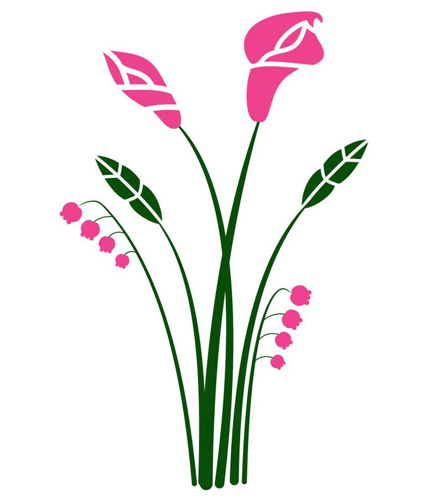 chipakk pink bunch of flowers wall sticker medium buy flower sticker pink anemone giant wall decal only 9 95