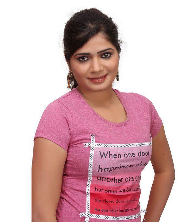 c6304db85ea Buy Textile India Fashion Vogue Juliet Ladies Fancy Quote T-Shirt ...
