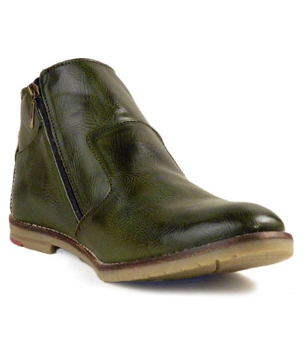 Sollers Sturdy Dark Green High Ankle Length Boots