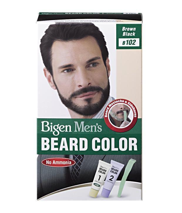 Bigen Men\'s Beard Color B-102 Brown Black: Buy Bigen Men\'s Beard ...