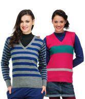 Yepme Multi-Coloured Acrylic Pullovers Combo Of 2