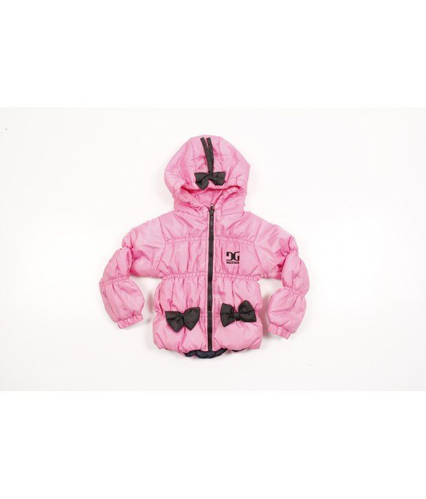 Dazzgear Baby Pink Regular Fit Full Sleeves Jackets For Girls