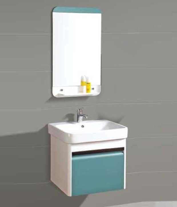 vanity cabinets for bathrooms india buy sanitop ceramic wash basin and pvc bathroom 24474