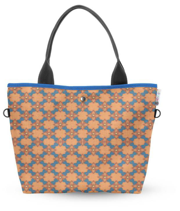 Atrangee Wide Tote Orange Petal Spurt