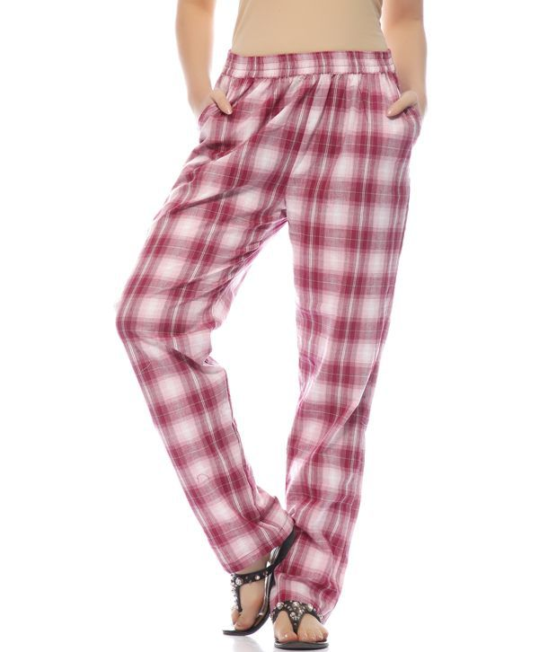 12d9e00f1 Buy MIND THE GAP Red Check Cotton Lower Online at Best Prices in ...