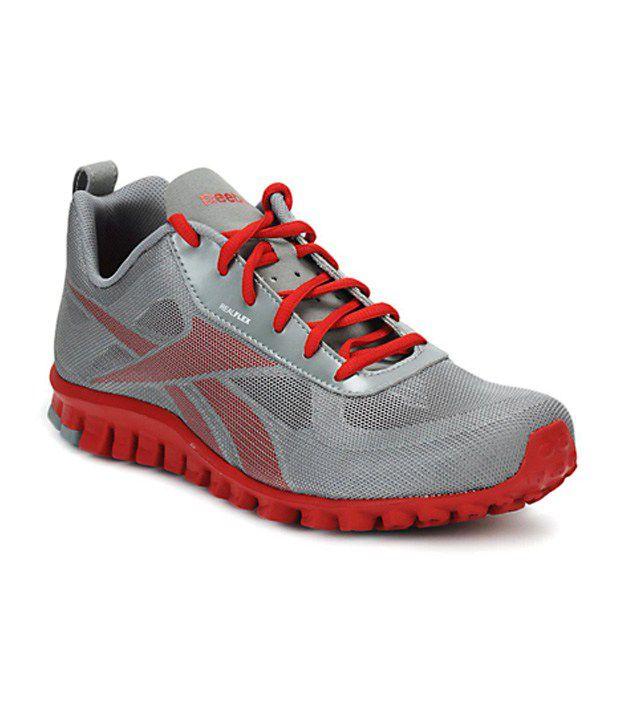 innovative design 68a38 ff5dd Reebok Men Grey Realflex Breeze Sports Shoes - Buy Reebok Men Grey Realflex  Breeze Sports Shoes Online at Best Prices in India on Snapdeal