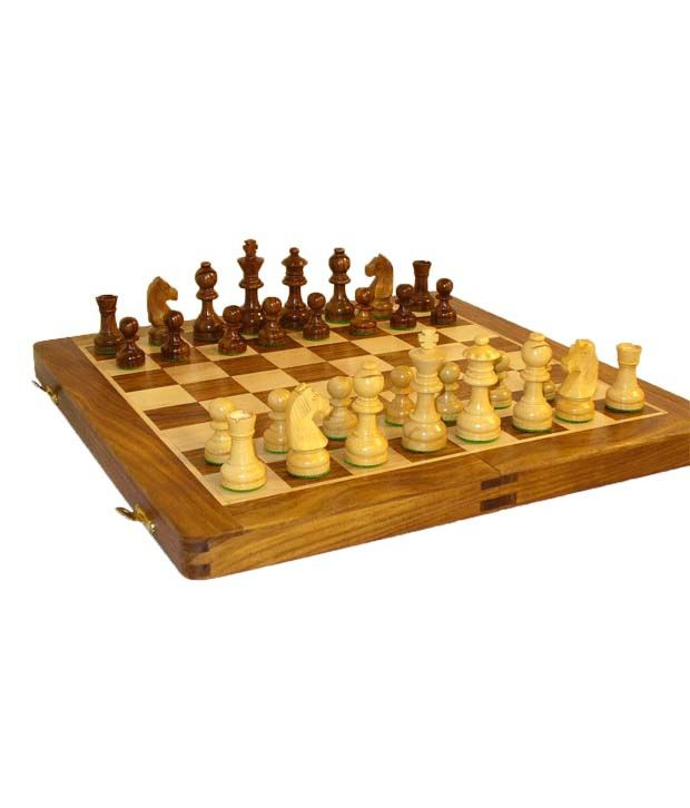 Kaykay Wooden Chess Board 14 Inch