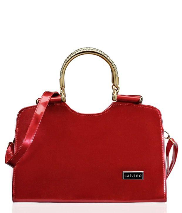 Calvino Red Satchel Bag