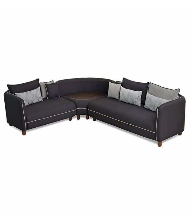 Corner Sofa Set Price In Hyderabad: @home Soft Corner Sofa With Storage