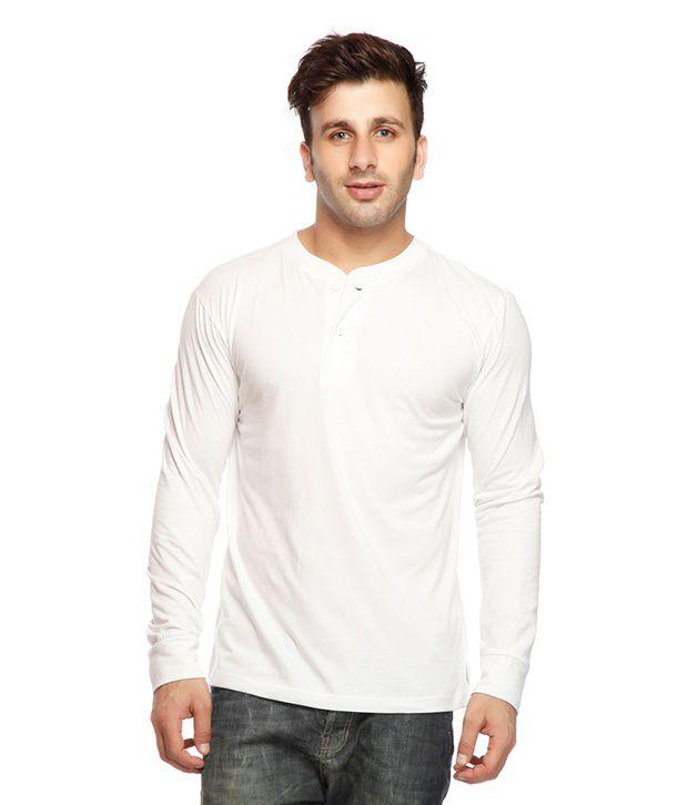 Gritstones Cool White Henley T Shirt