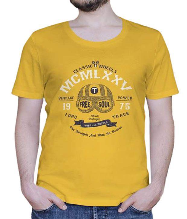 Skizze Yellow Free Soul T-Shirt