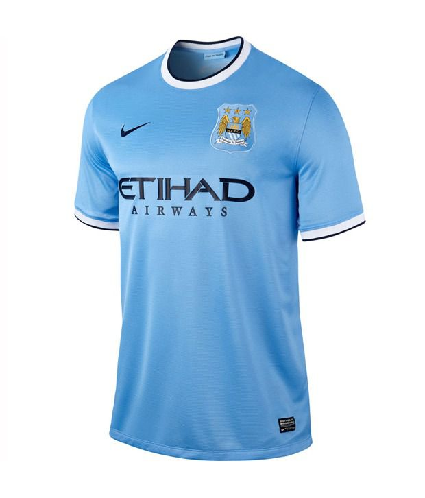 eb6579159 Nike Blue Manchester City Football Jersey - Buy Nike Blue Manchester City  Football Jersey Online at Low Price in India - Snapdeal