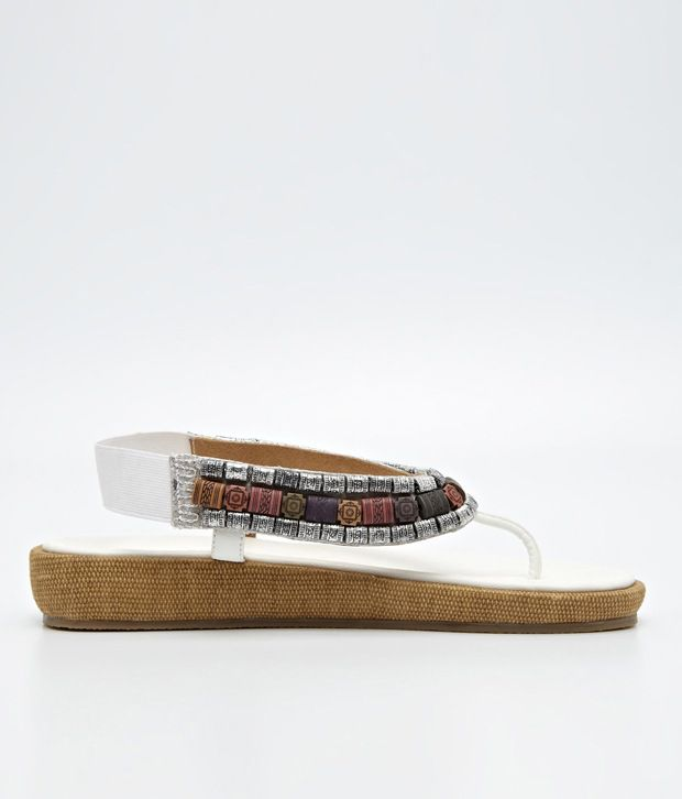 Inc.5 Chunky Bead Sandals in White